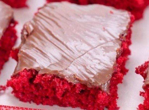 Red Velvet Sheet Cake  Red Velvet Sheet Cake W Nutella Fudge Icing Recipe