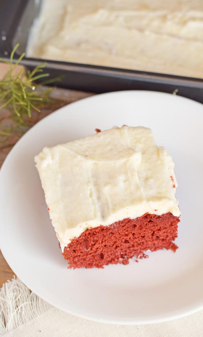 Red Velvet Sheet Cake  The Tastes of Home for the Holidays Red Velvet Sheet