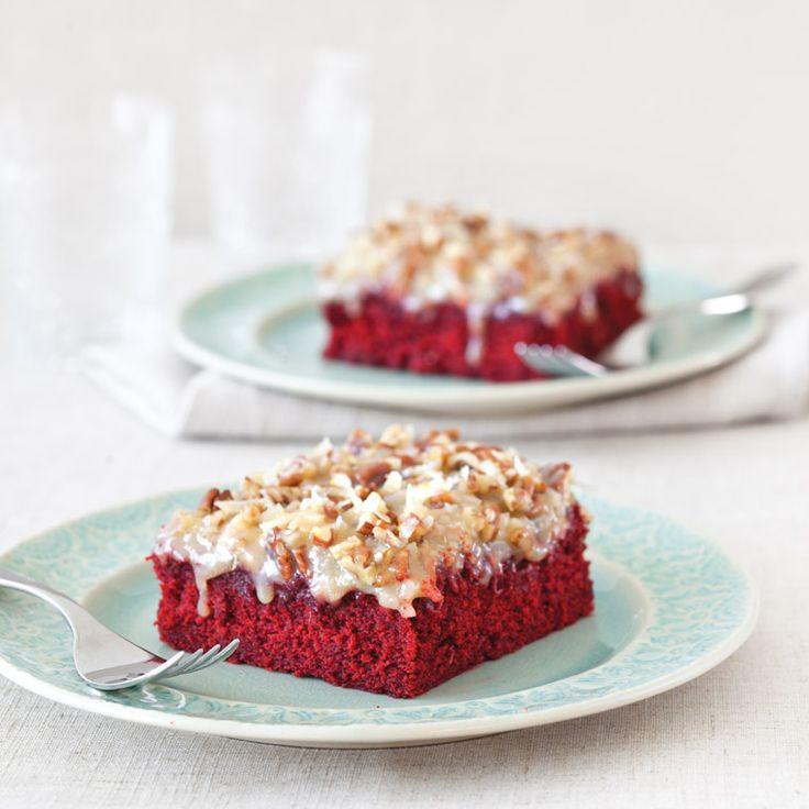 Red Velvet Sheet Cake  Red Velvet Sheet Cake Recipe — Dishmaps