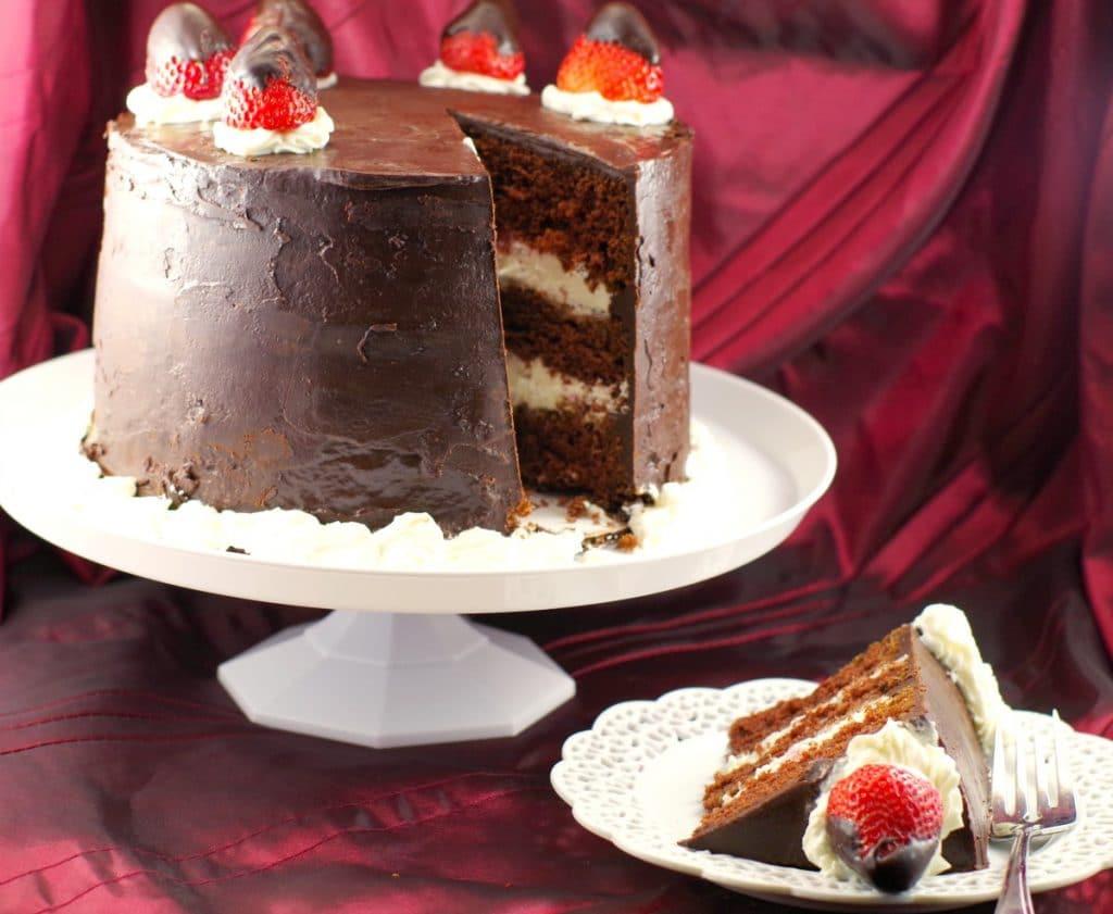 Red Wine Chocolate Cake  Red Wine Strawberry Chocolate Fudge Cake