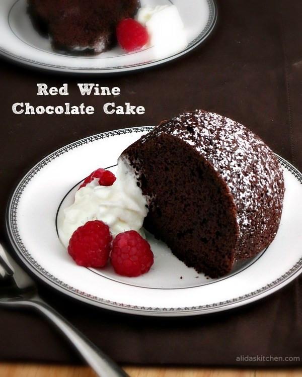 Red Wine Chocolate Cake  Red Wine Chocolate Cake SundaySupper