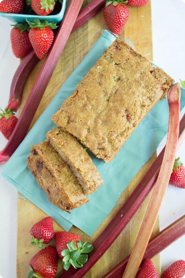 Rhubarb Bread Recipes  Healthy Strawberry Rhubarb Bread Recipe fANNEtastic food
