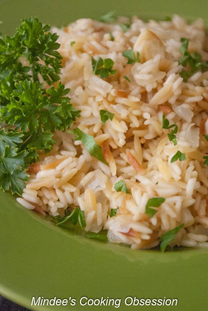 Rice Pilaf With Orzo  rice pilaf with orzo in rice cooker