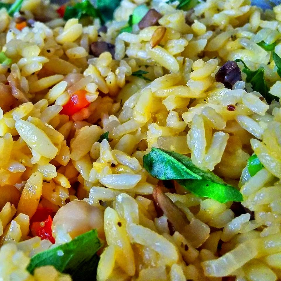 Rice Pilaf With Orzo  Klunker s Plant Based Kitchen Rice pilaf with garbanzo