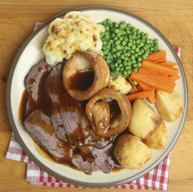 Roast Beef Dinner  20 hangover foods ranked from worst to best