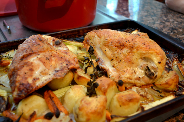 Roasted Chicken Breast And Vegetables  A Cook and Her Books Weeknight Roast Chicken with Ve ables