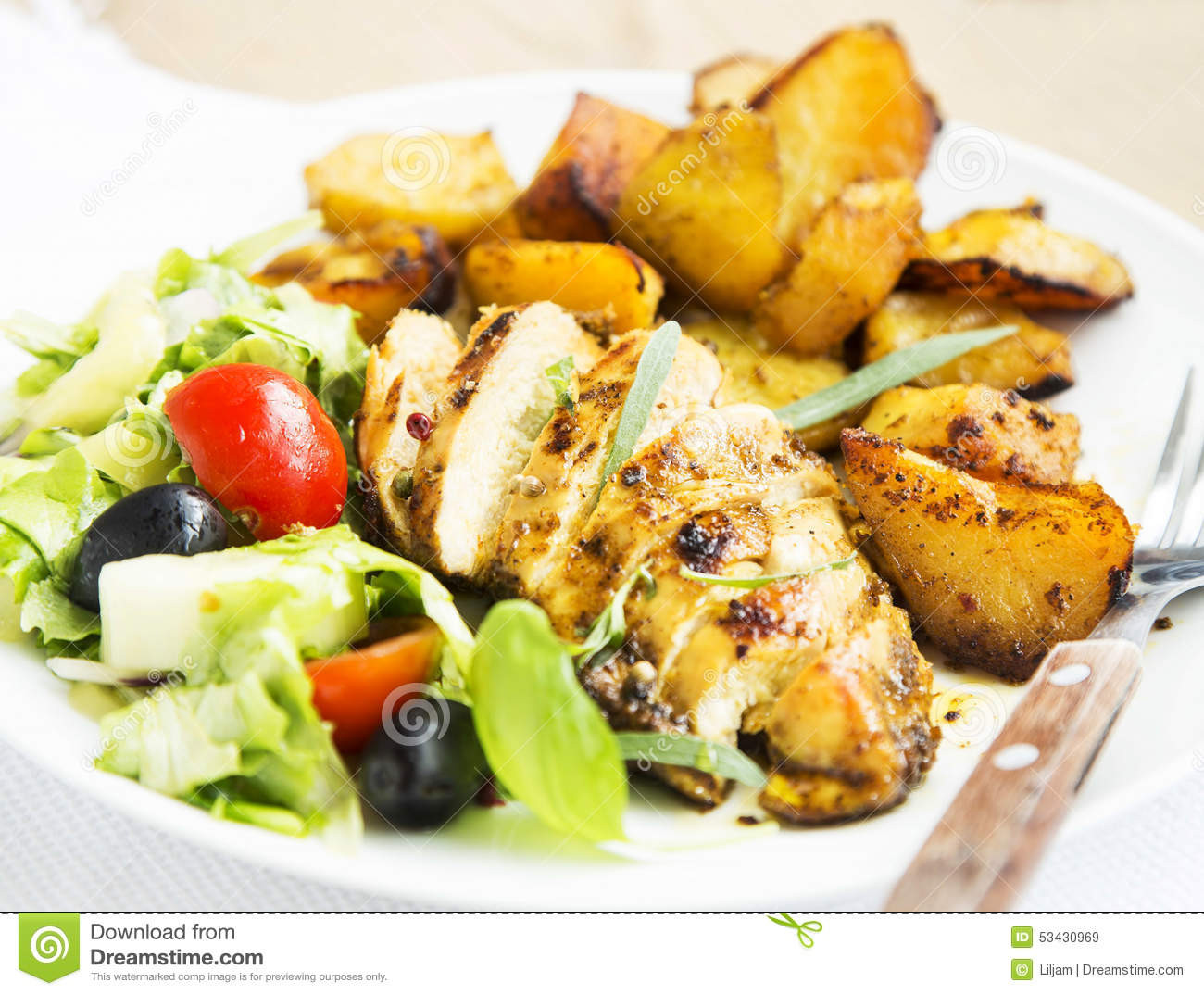 Roasted Chicken Breast And Vegetables  Roasted Chicken Breast With Sweet Potatoes And Salad
