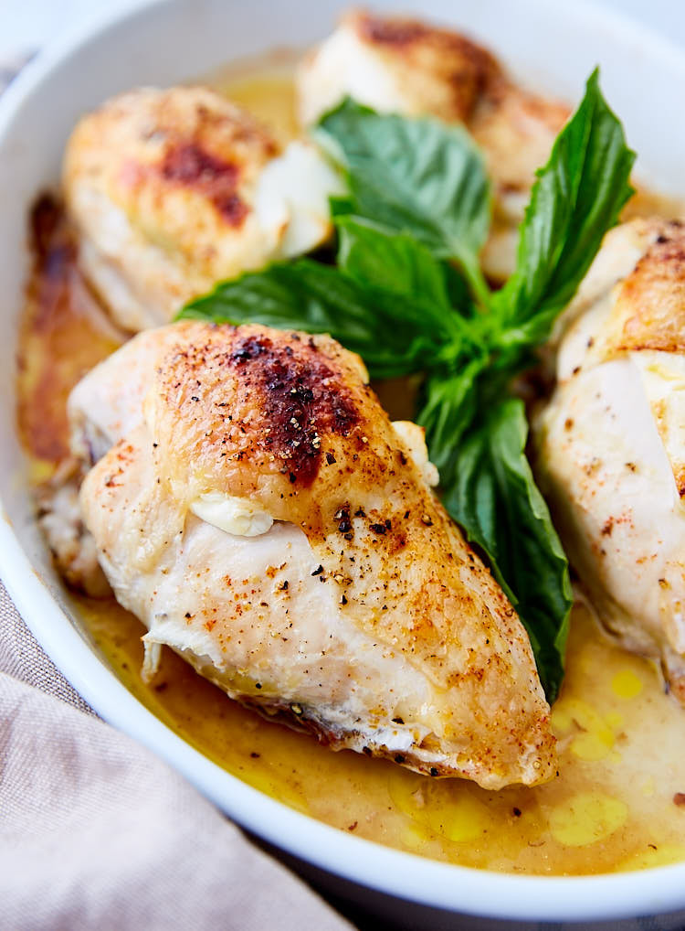 Roasted Chicken Breasts  3 Ingre nt Baked Chicken Breast with Goat Cheese and