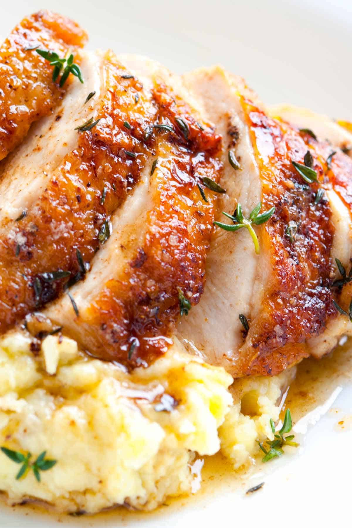 Roasted Chicken Breasts  Easy Pan Roasted Chicken Breasts with Thyme