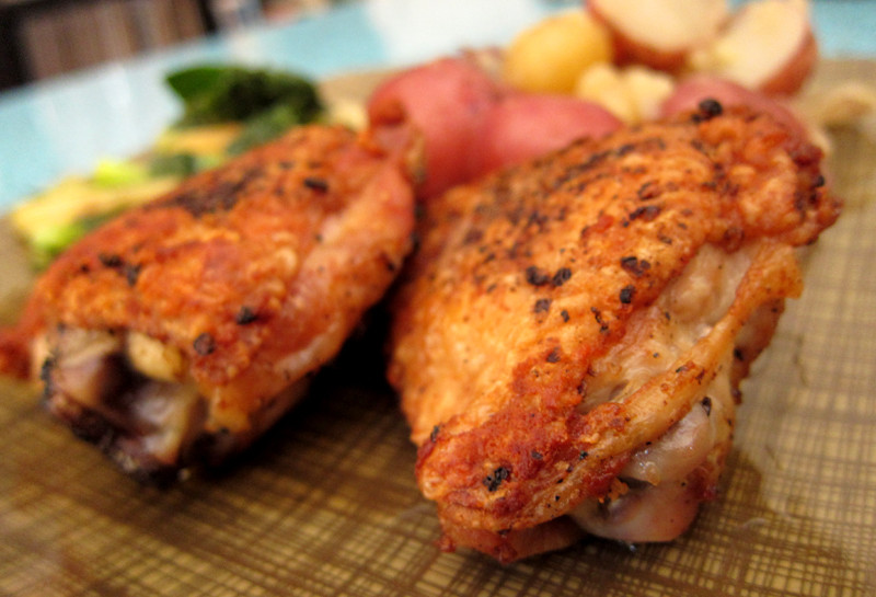 Roasted Chicken Thighs Recipe  perfect pan roasted chicken thighs