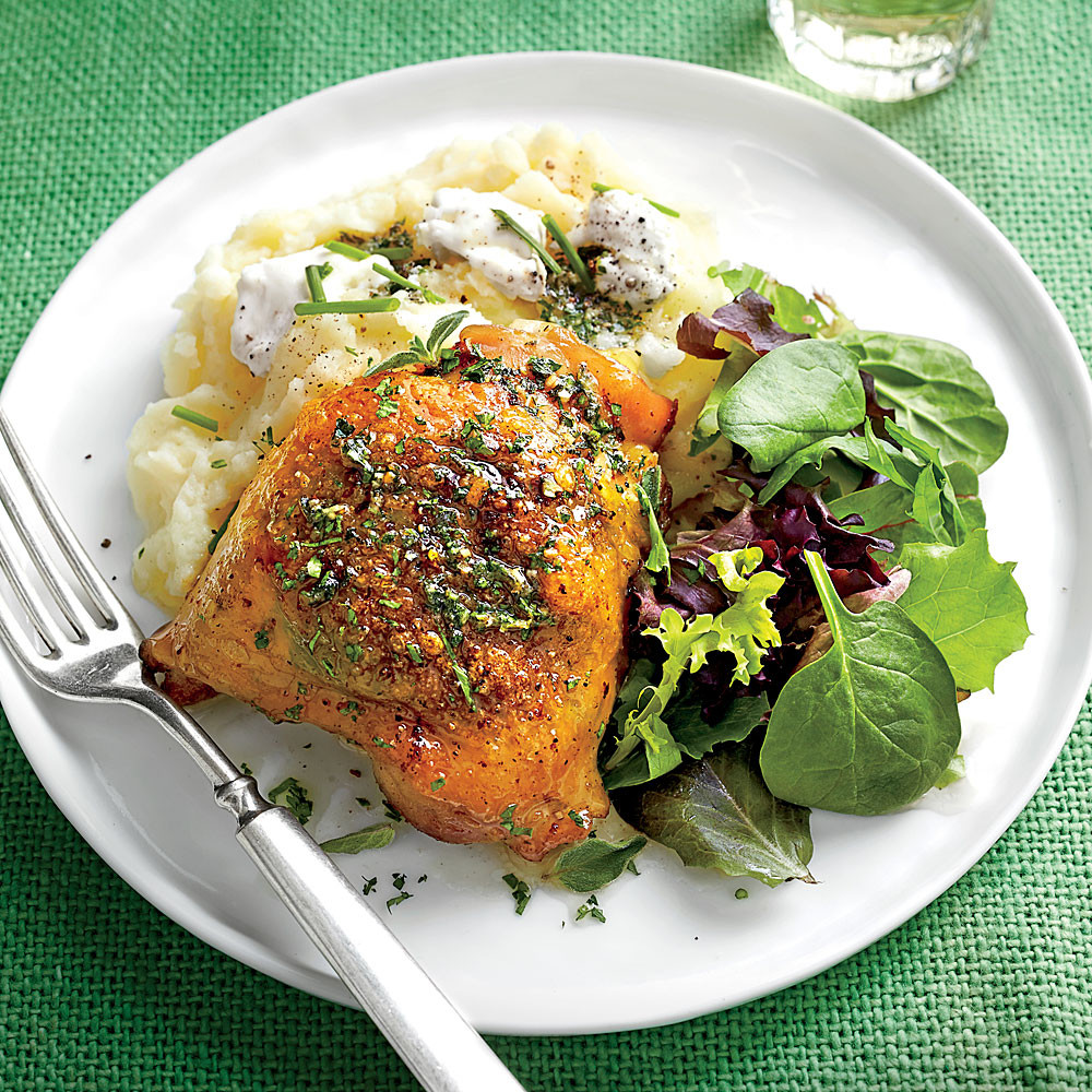 Roasted Chicken Thighs Recipe  Roasted Chicken Thighs with Herb Butter Recipe