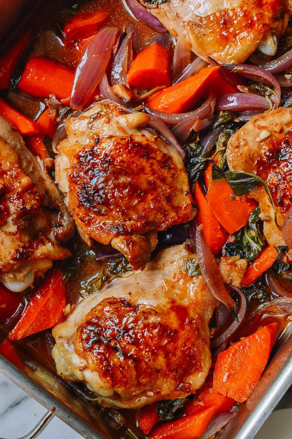 Roasted Chicken Thighs Recipe  Thai Roasted Chicken Thighs Recipe The Woks of Life