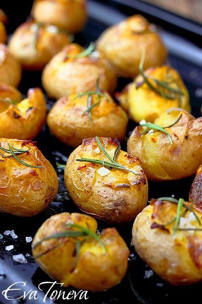 Roasted New Potatoes  roasted new potatoes w sea salt and rosemary