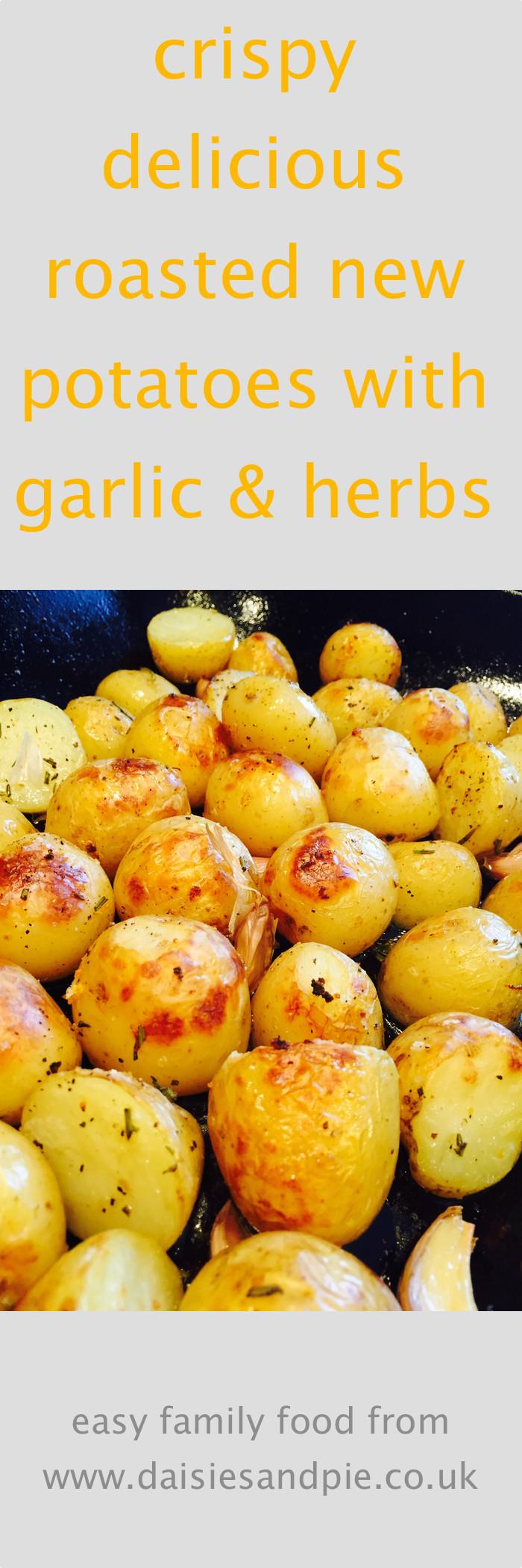 Roasted New Potatoes  Roasted new potatoes with herbs