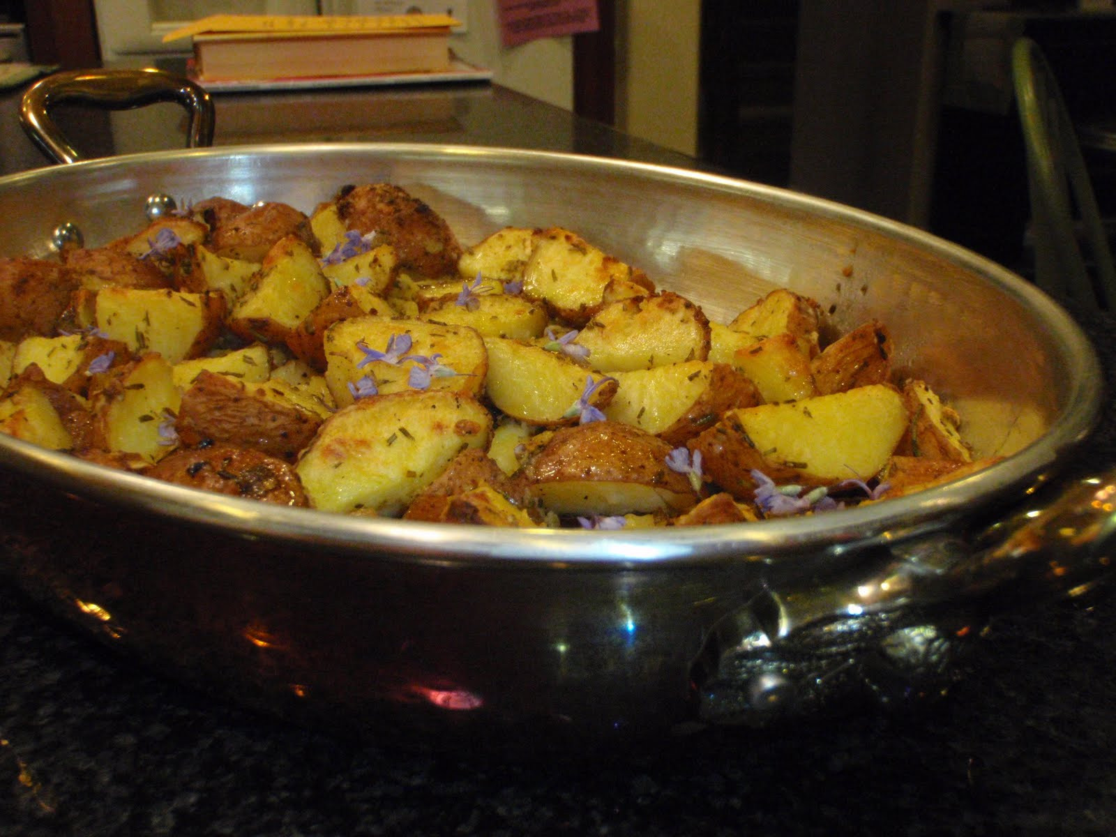Roasted New Potatoes  seven salts Roasted New Potatoes with Rosemary and Garlic