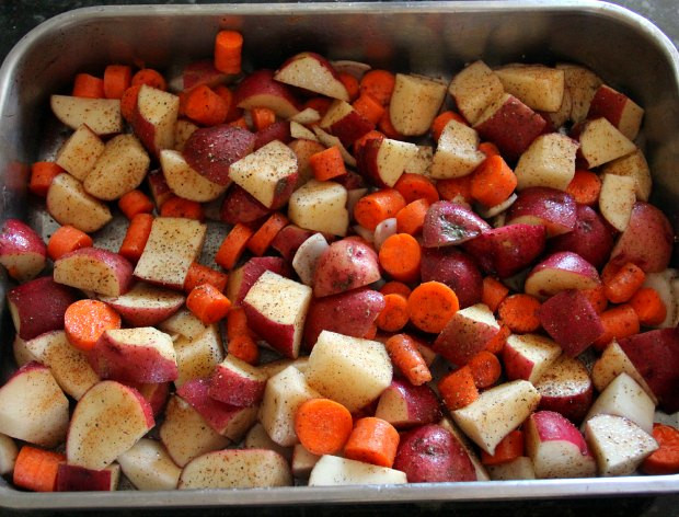 Roasted Potatoes And Carrots And Onions  roasted potatoes and carrots and onions