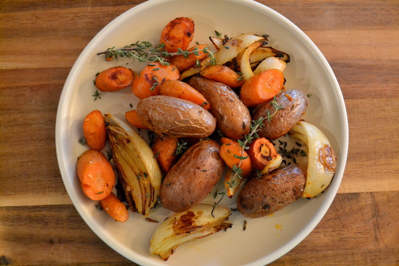 Roasted Potatoes And Carrots And Onions  Cookin Cowgirl Roasted Potatoes Carrots and ions