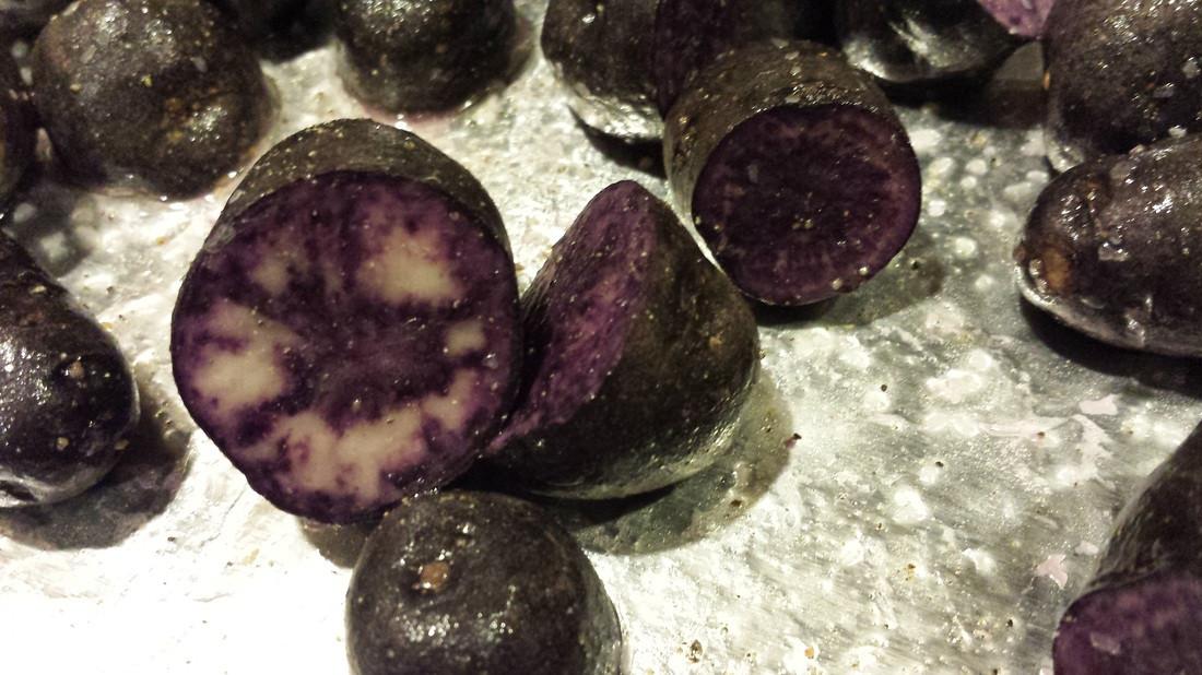 Roasted Purple Potatoes  Redrocksthekitchen Recipes Red Rocks The Kitchen