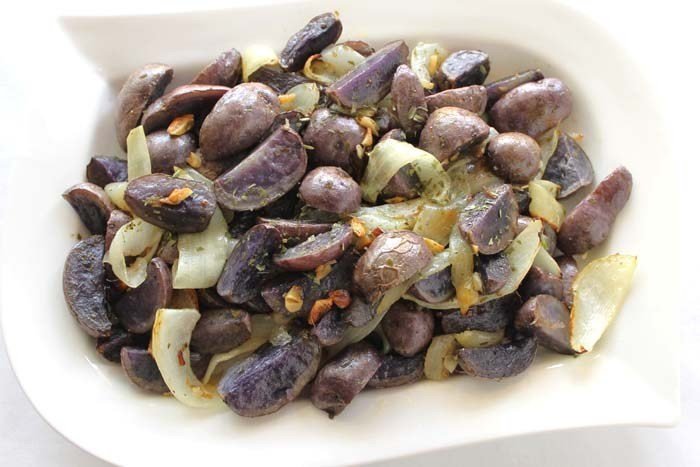 Roasted Purple Potatoes  Roasted Purple Potatoes with Tarragon Robust Recipes