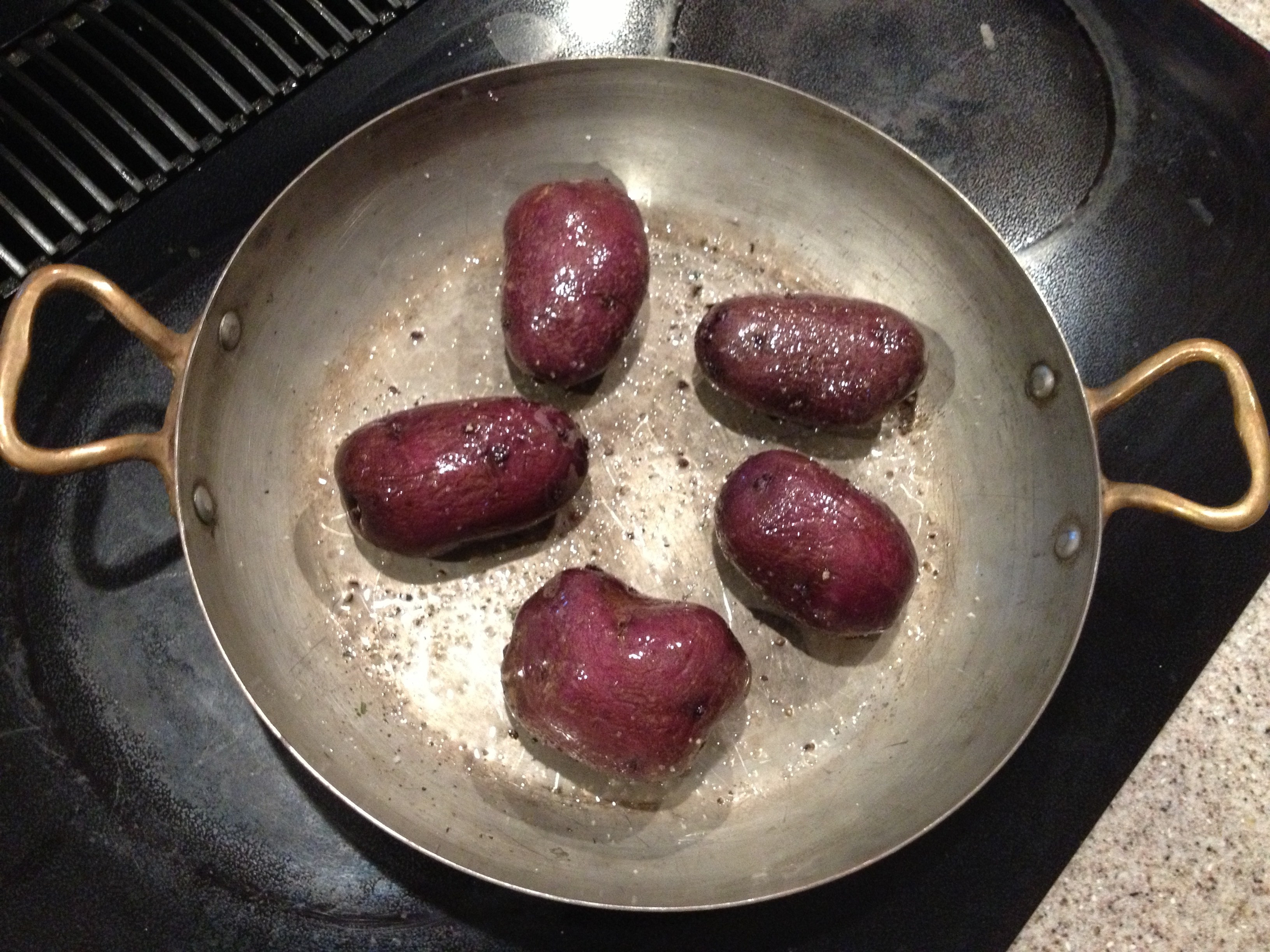 Roasted Purple Potatoes  Roasted Purple Potatoes in Coconut Oil Eat Real Simple