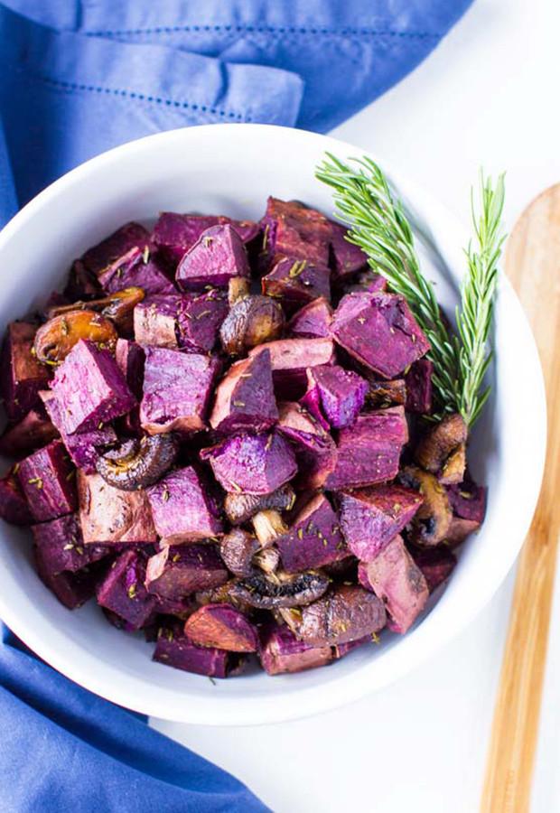 Roasted Purple Potatoes  Roasted Purple Sweet Potatoes – Just Farmed