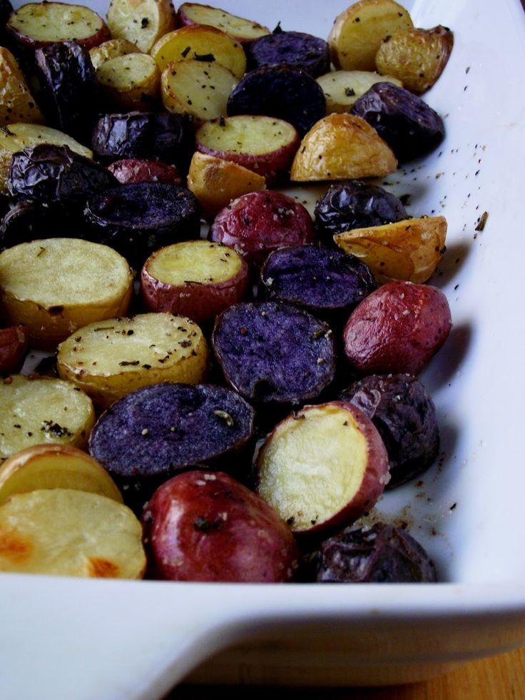 Roasted Purple Potatoes  Roasted Gemstone Potatoes Recipe Delish