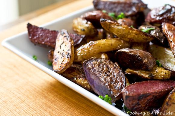 Roasted Purple Potatoes  Recipe Balsamic Roasted Fingerling Potatoes