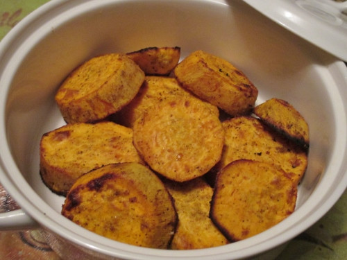Roasted Sweet Potato Slices  Delicious Oven Roasted Sweet Potato Slices with ThymeLearn