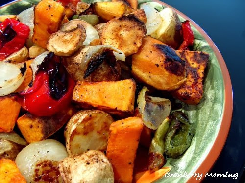 Roasted Vegetables Thanksgiving  Cranberry Morning Oven Roasted Ve ables for