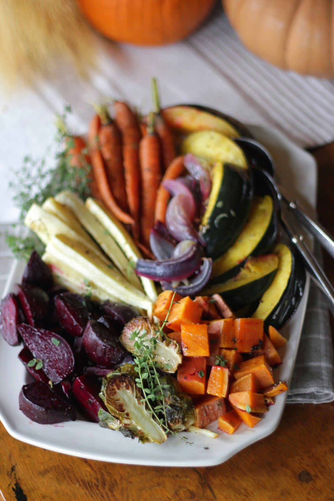 Roasted Vegetables Thanksgiving  Jenny Steffens Hobick Roasted Root Ve able Platter with
