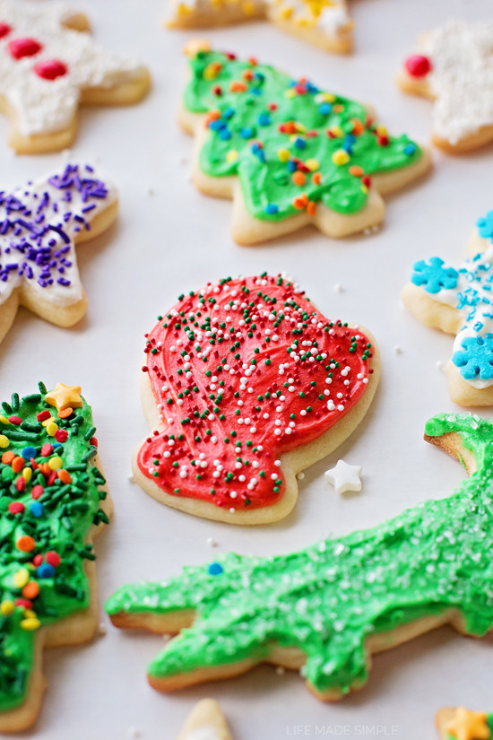 Roll Out Sugar Cookies  Perfect Roll Out Sugar Cookies Life Made Simple
