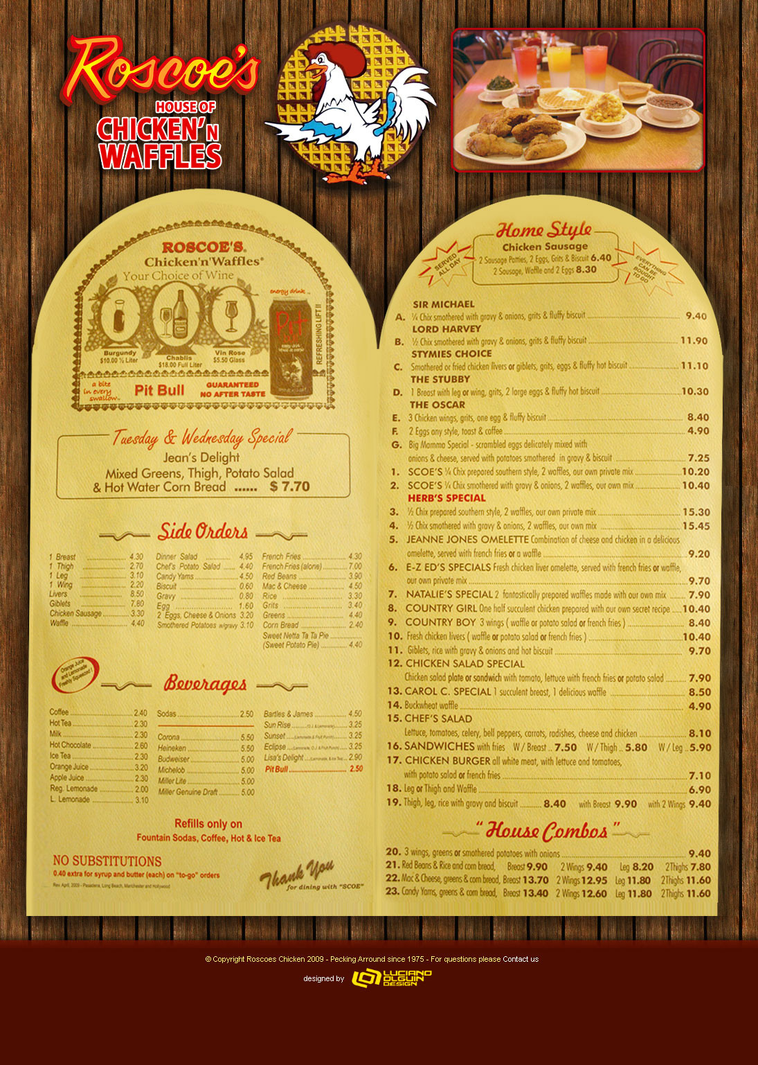Roscoe'S Chicken And Waffles Menu  waffles – hungryshutterbug