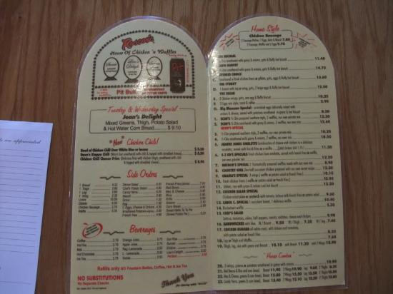 Roscoe'S Chicken And Waffles Menu  21 Chicken breast red beans & rice and cornbread