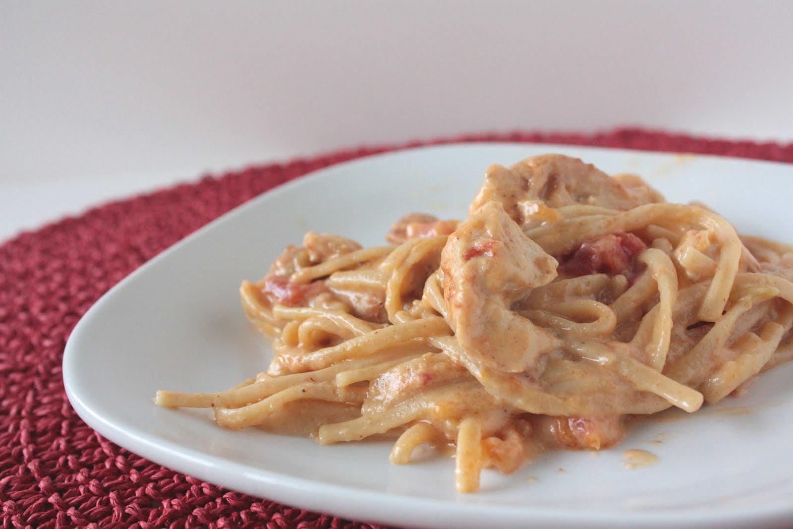 Rotel Chicken Spaghetti  Momma Hen s Kitchen Rotel Chicken Spaghetti