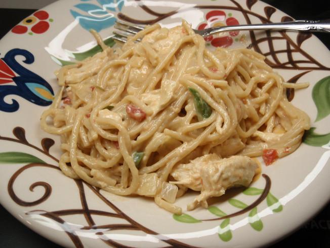 Rotel Chicken Spaghetti  chicken ro tel pasta a k a chicken spaghetti