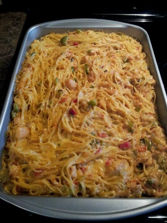 Rotel Chicken Spaghetti  rotel chicken spaghetti casserole