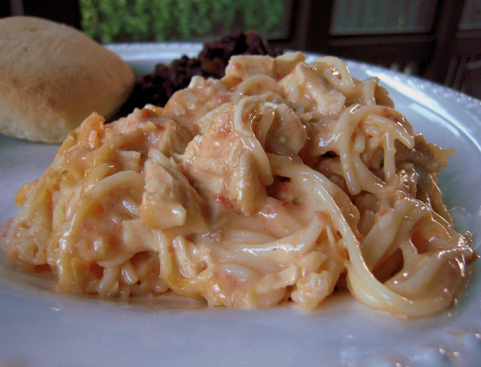 Rotel Chicken Spaghetti  Rotel Chicken Spaghetti