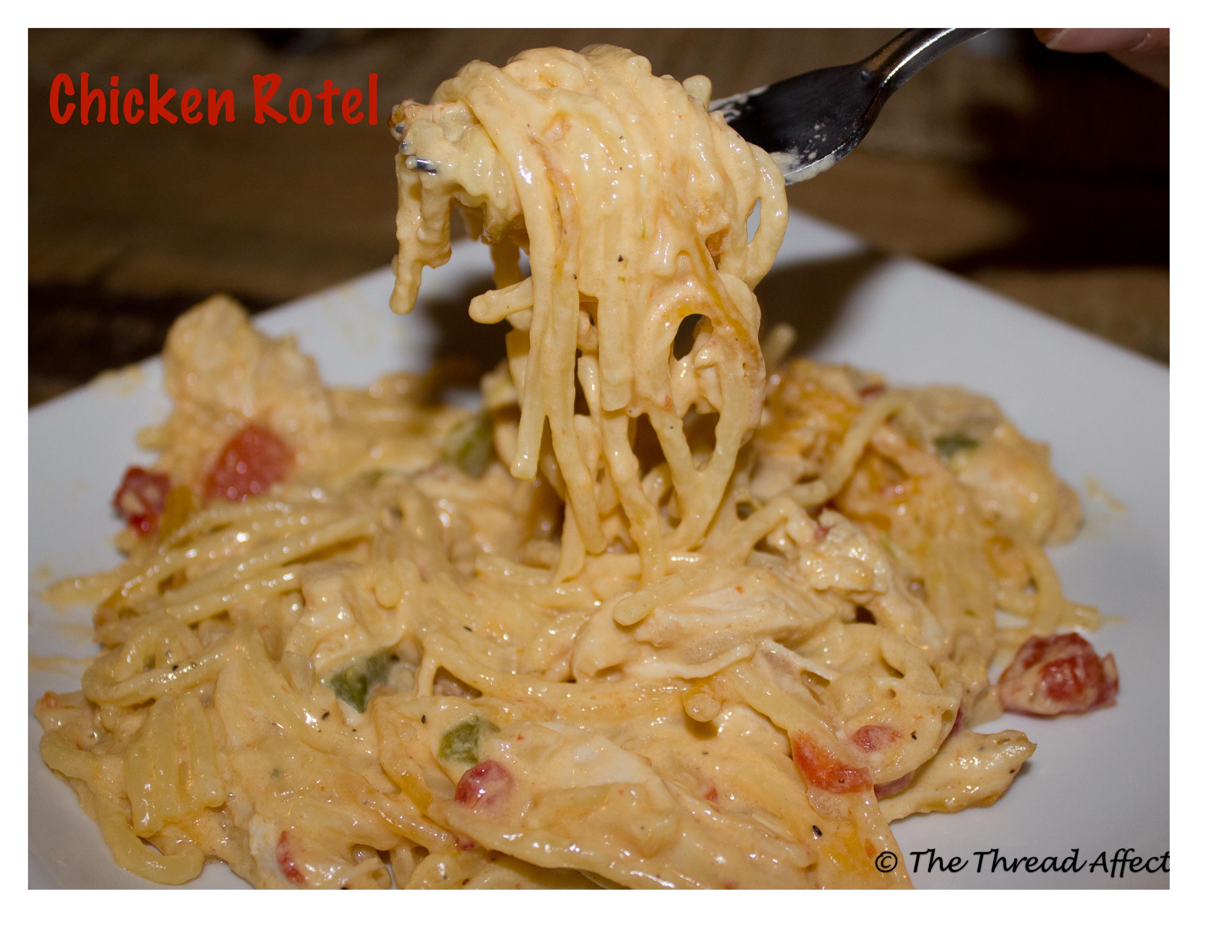 Rotel Chicken Spaghetti  Rotel Chicken