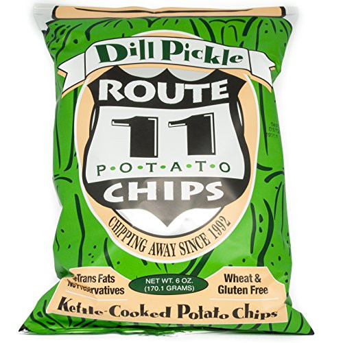 Route 11 Potato Chips  Route 11 Dill Pickle All Natural Potato Chips 6 oz Bag