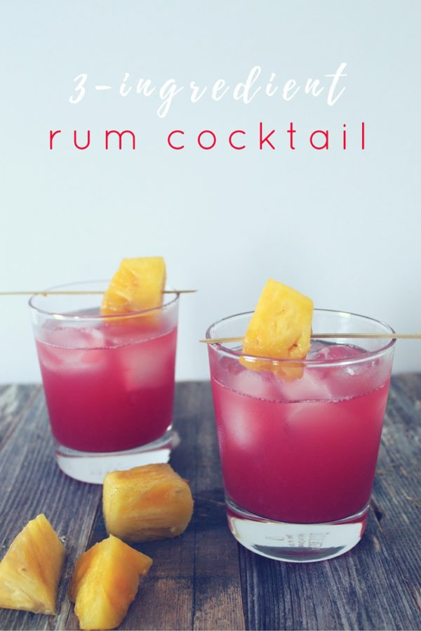Rum Drinks Easy  The Baewatch A 3 Ingre nt Rum Cocktail