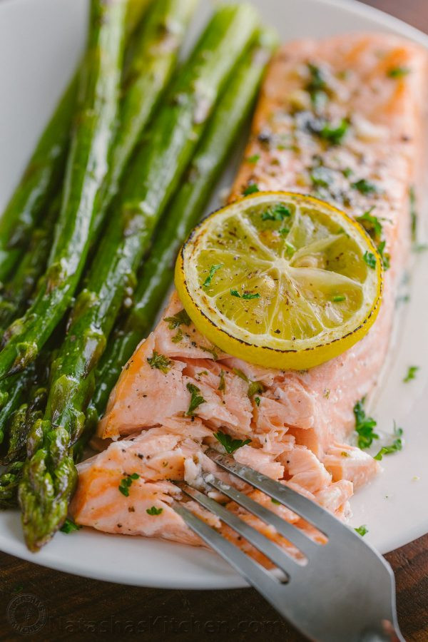 Salmon And Asparagus Recipe  e Pan Salmon Asparagus Recipe VIDEO NatashasKitchen