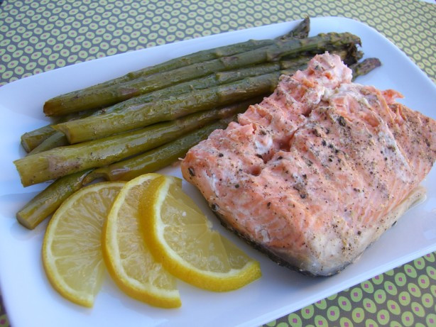 Salmon And Asparagus Recipe  Salmon And Asparagus In Foil Recipe Food