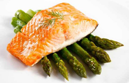 Salmon And Asparagus Recipe  Grilled Salmon with Orzo and Asparagus