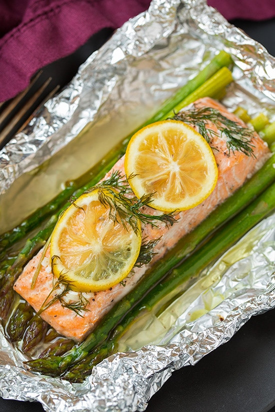 Salmon And Asparagus Recipe  Mustardy Salmon In A Packet With Asparagus Recipe — Dishmaps