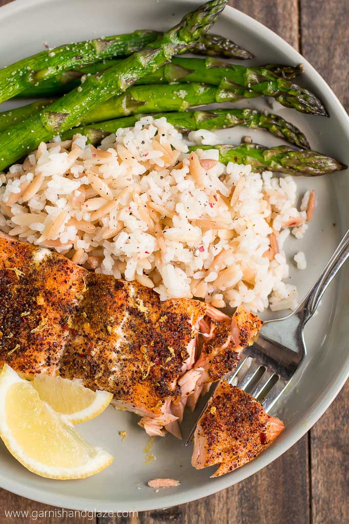 Salmon And Asparagus Recipe  20 Minute Simple Salmon & Asparagus Garnish & Glaze