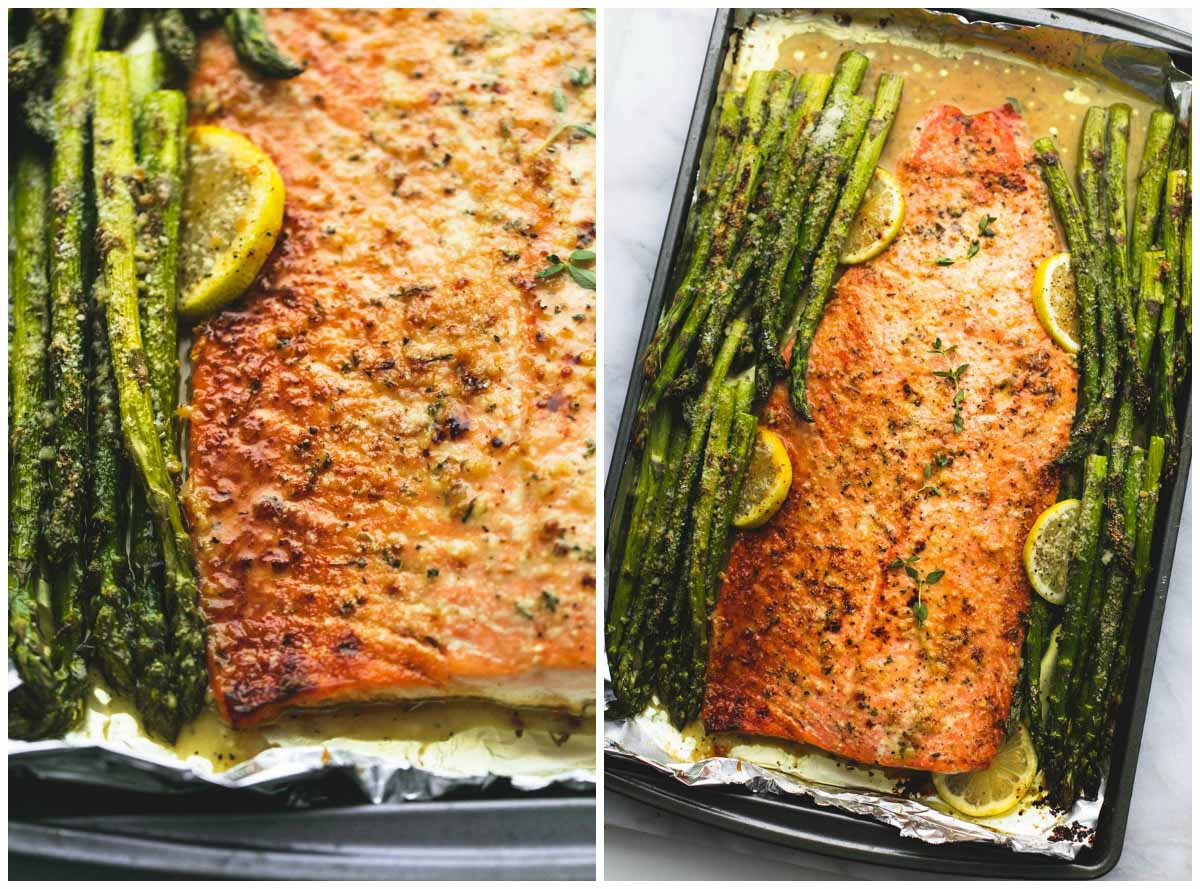 Salmon And Asparagus Recipe  Baked Lemon Parmesan Salmon & Asparagus in Foil