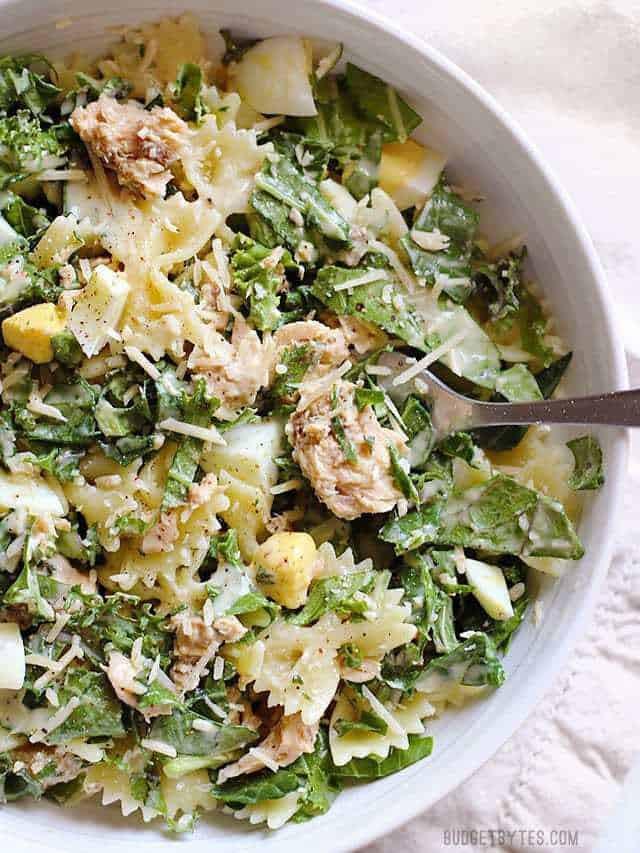 Salmon Caesar Salad  Kale & Salmon Caesar Salad Bud Bytes