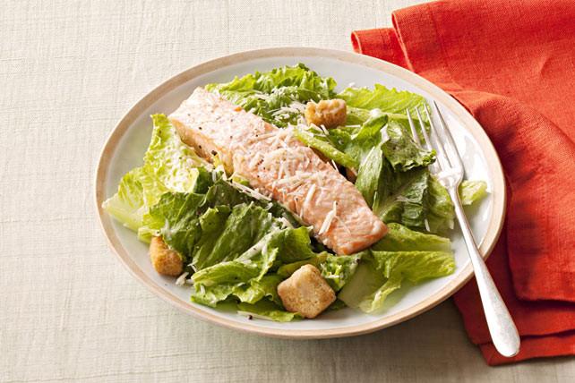 Salmon Caesar Salad  Salmon Caesar Salad Kraft Recipes