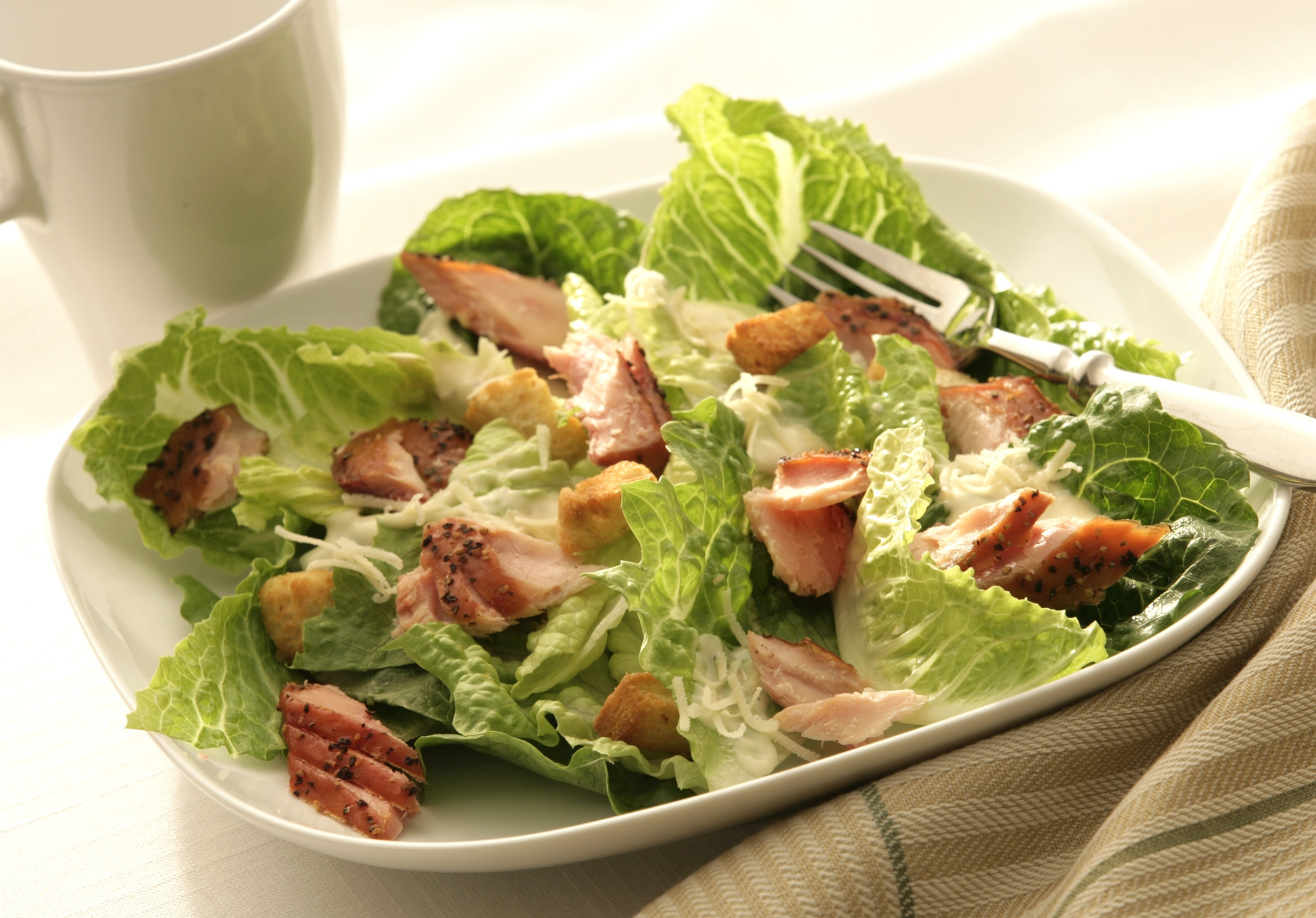 Salmon Caesar Salad  Smoked Salmon Caesar Salad Morey s