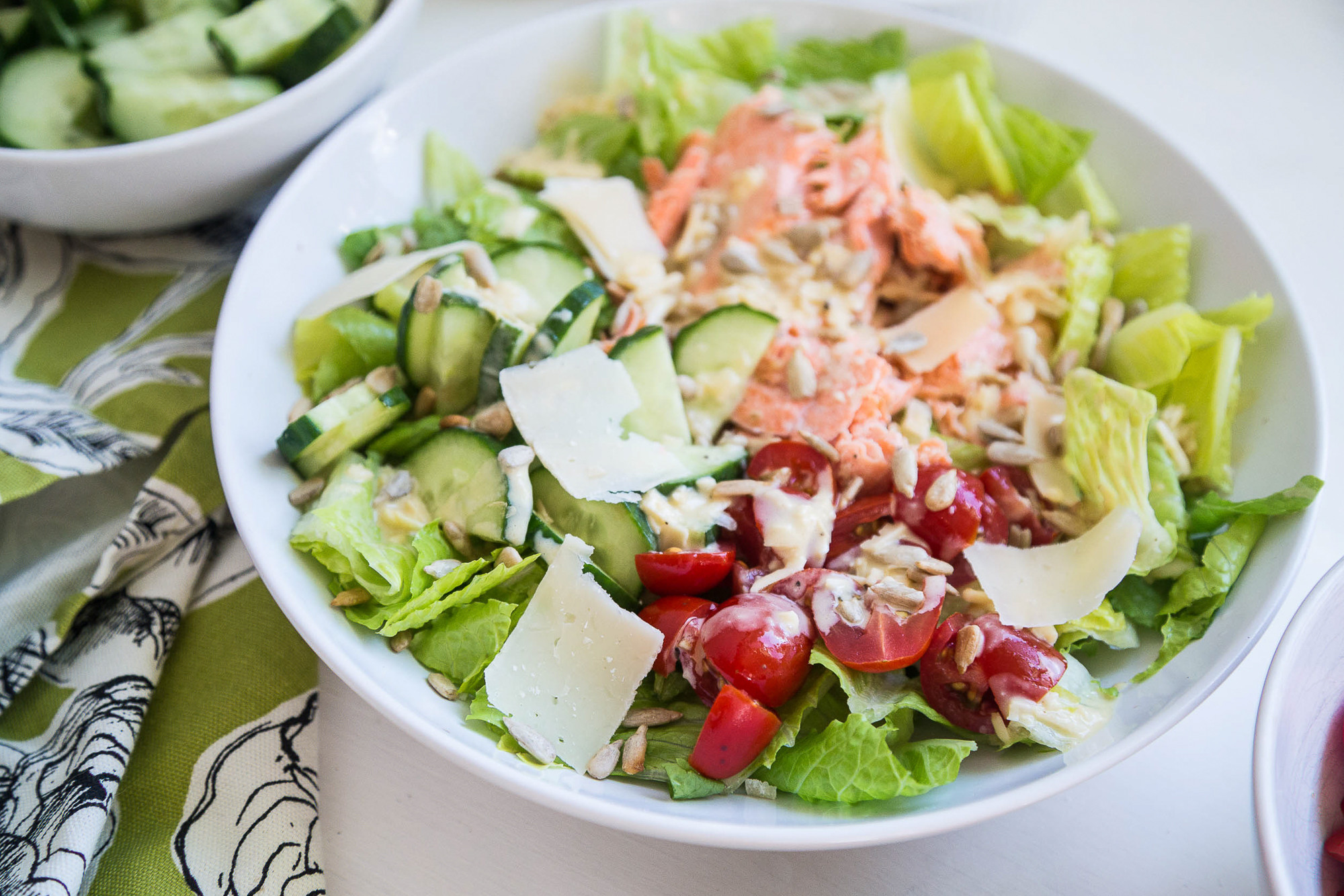 Salmon Caesar Salad  Grilled Salmon Caesar Salad